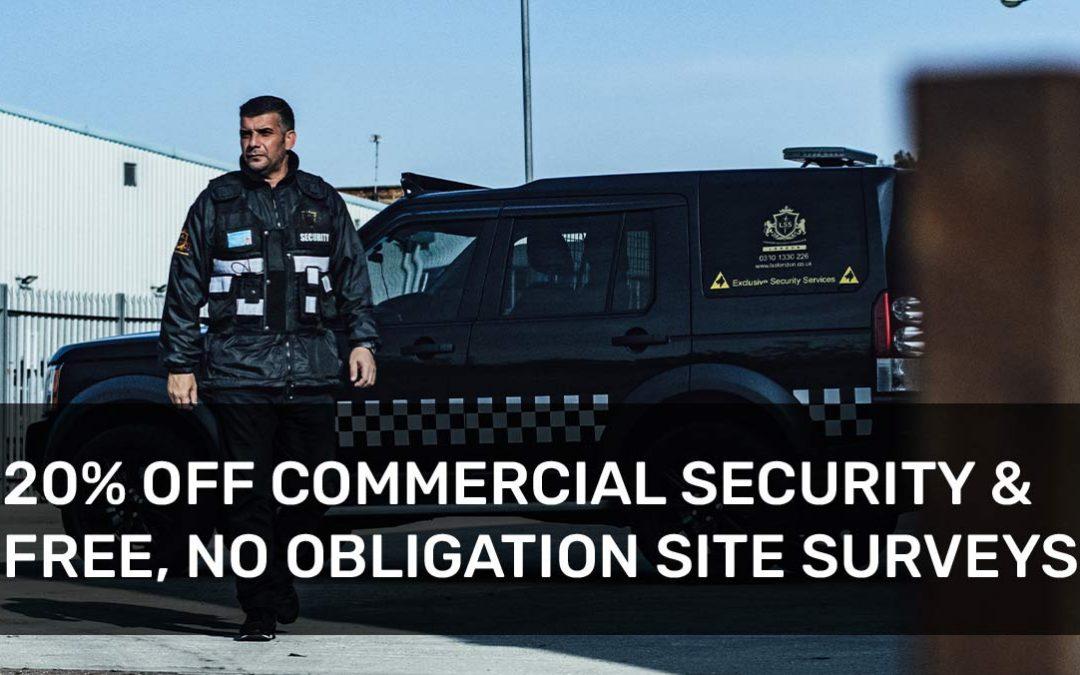 Free Commercial Security Site Surveys + 20% OFF
